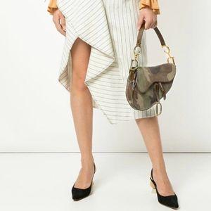 Christian Dior Vintage Saddle Camouflage Handbag